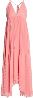 Alice + Olivia Pleated Crepe De Chine Midi Dress