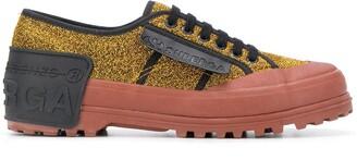 Marco De Vincenzo x Superga glitter-embellished sneakers