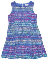 Florence Eiseman Sleeveless Striped Lace Shift Dress, Multicolor, Size 7-14