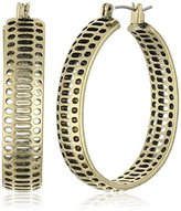 Lucky Brand Gold Abstract Hoop Earrings