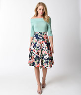 High Waisted Floral Skirts - ShopStyle