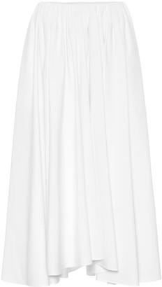 Jil Sander Pleated cotton-poplin midi skirt
