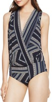 BCBGeneration Geo-Stripe Sleeveless Bodysuit