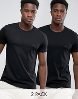 Emporio Armani Cotton Crew Neck T-shirts 2 Pack In Regular Fit