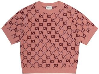 Gucci Kids GG jacquard wool top