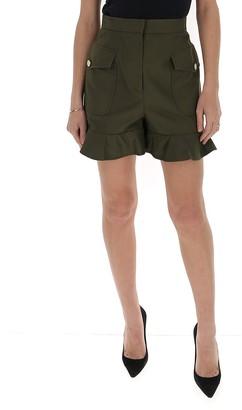Alexander McQueen Ruffle Hem Shorts