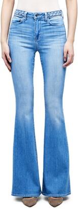 L'Agence Braid Detail High Waist Bell Bottom Jeans
