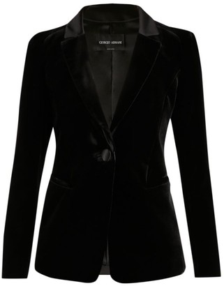 Giorgio Armani Silk Viscose Velvet Jacket