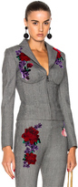 La Perla Prince of Wales Corset Jacket in Gray,Checkered & Plaid,Floral.