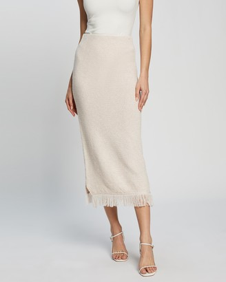 Atmos & Here Atmos&Here - Women's Neutrals Pencil skirts - Milana Midi Skirt - Size L at The Iconic