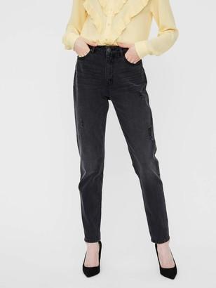 Vero Moda Women's Vmjoana Hr Mom Ankle Destr J Li103 Jeans