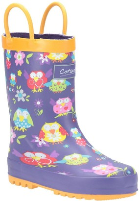 Cotswold Girls Owl Wellington Boots