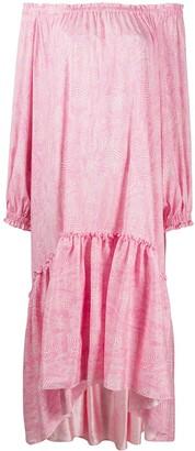 FEDERICA TOSI Ruffle-Trimmed Asymmetric Dress