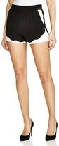 Aqua Scalloped Hem Shorts