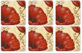 Pimpernel Poppy De Villenevue Coasters (Set of 6)