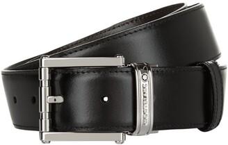 Montblanc Reversible Silver Buckle Belt