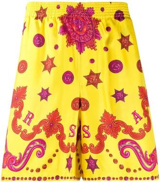Versace Baroque Western silk swim shorts