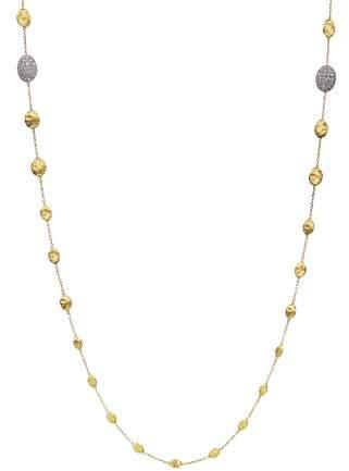 "Marco Bicego Diamond Siviglia Necklace in 18K Yellow Gold, 36"""