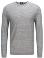 HUGO BOSS Ollivio Linen Fine Ribbed Sweater M Grey
