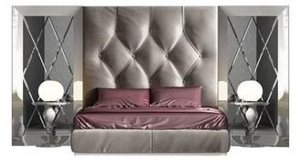 Orren Ellis Tufted Solid Wood and Upholstered Standard Bed Size: Full