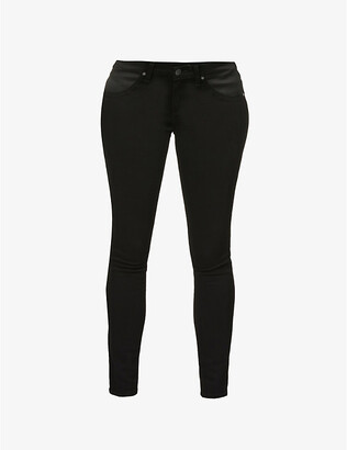 Paige Denim Women's Black Shadow Verdugo Maternity Skinny Mid-Rise Jeans, Size: 24