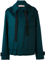 Marni oversized placket jacket - women - Cashmere/Alpaca/Virgin Wool - 38