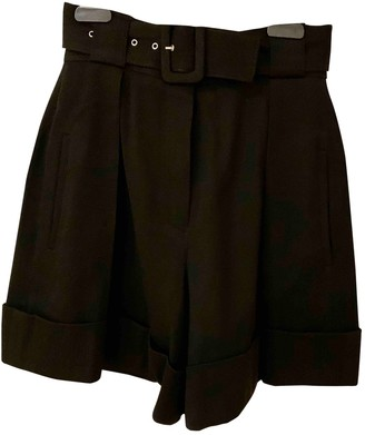Christian Dior Black Wool Shorts