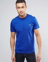 Fred Perry Small Logo T-Shirt In Regal Blue
