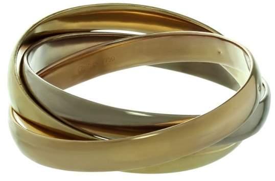 """Cartier Trinity 18K Tri-Gold Bangle Large Model Bracelet Size 6.75"""""""