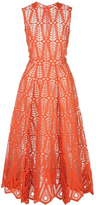 Oscar de la Renta sleeveless cut-out dress