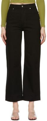 Eckhaus Latta Black Wide Leg Jeans