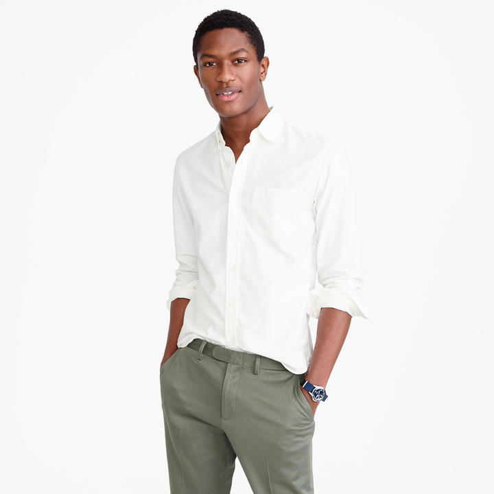 J.Crew Tall vintage oxford shirt in white