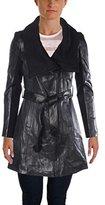 Elie Tahari Women's Alexandra Belted Leather Jacket