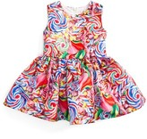 Halabaloo Infant Girl's Candy Print Sleeveless Dress