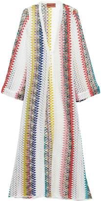 Missoni Mare Mare Tie-front Striped Crochet-knit Coverup