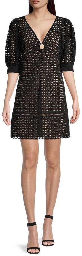 MICHAEL Michael Kors Eyelet Cotton Mini Dress