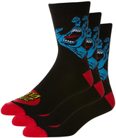 Santa Cruz Screaming Sock 3 Pack Black