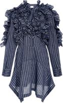 Acler Telford Accordion Ruffle Shirt Dress