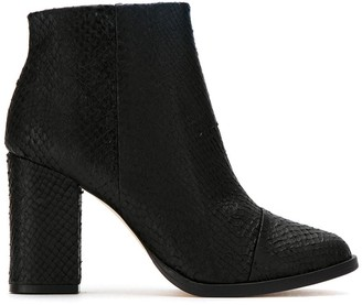 OSKLEN Leather Textured Ankle Boots