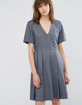 YMC Wool Pleated Skater Dress