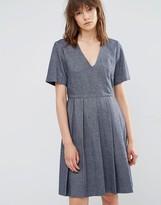 YMC Wool Pleated Skater Dress