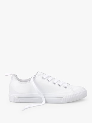 Hush Dalmore Leather Low Top Trainers, White