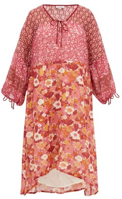 D'Ascoli Fernanda Floral-print Cotton Dress - Pink Print