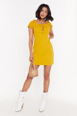 Nasty Gal Dressed to Impress Lace-Up Mini Dress