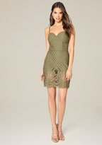 Bebe Alix Lace Shorts Dress