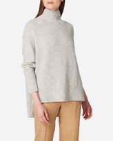 N.Peal High Neck Ribbed Cashmere Jumper