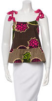 Moschino Cheap & Chic Moschino Cheap and Chic Silk-Trimmed Peplum Top w/ Tags