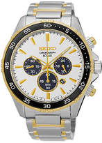 Seiko Mens Two-Tone Chronograph Bracelet Watch SSC446, One Size , No Color Family