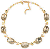 Carolee Gold-Tone Brown Stone Collar Necklace