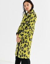 Gianni Feraud leopard felt tailored coat in wool blend